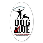 Dog the Vote: No Chains Sticker (Oval)