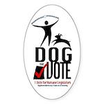 Dog the Vote: No Chains Sticker (Oval 50 pk)