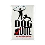 Dog the Vote: No Chains Rectangle Magnet (100 pack