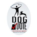 Dog the Vote: No Chains Ornament (Oval)