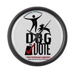Dog the Vote: No Chains Large Wall Clock