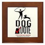 Dog the Vote: No Chains Framed Tile