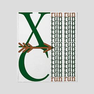 XC Run Dark Green Brown Throw Blanket