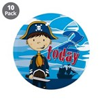 "Cute Pirate Boy 2nd Birthday 3.5"" Button (10"