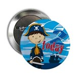 "Cute Pirate Boy 2nd Birthday 2.25"" Button"
