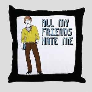 No Friends Funny Emo Throw Pillow