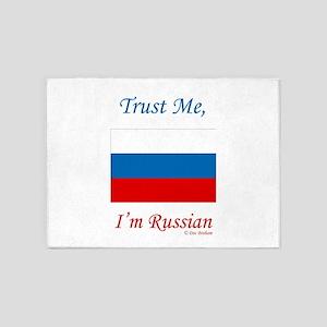 Russian Flag 5'x7'Area Rug