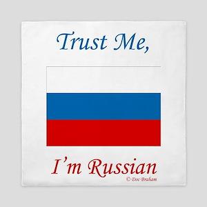 Russian Flag Queen Duvet