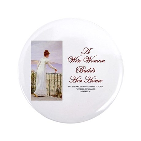 """Sweet Wise Woman 3.5"""" Button"""