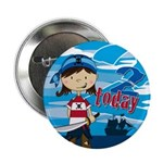 "Cute Pirate Girl 2nd Birthday 2.25"" Button (1"