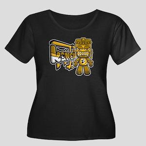 Tiki Mascot Women's Plus Size Tee (D)