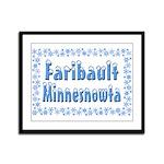 Faribault Minnesnowta Framed Panel Print