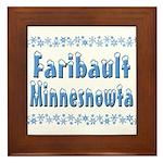 Faribault Minnesnowta Framed Tile