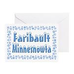Faribault Minnesnowta Greeting Cards (Pk of 20)