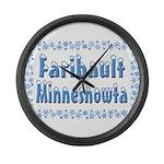 Faribault Minnesnowta Large Wall Clock