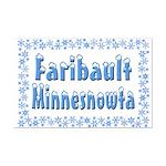 Faribault Minnesnowta Mini Poster Print