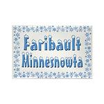 Faribault Minnesnowta Rectangle Magnet (10 pack)