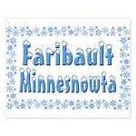 Faribault Minnesnowta Small Poster