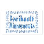 Faribault Minnesnowta Sticker (Rectangle 10 pk)