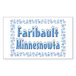 Faribault Minnesnowta Sticker (Rectangle 50 pk)