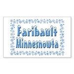 Faribault Minnesnowta Sticker (Rectangle)