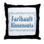 Faribault Minnesnowta Throw Pillow