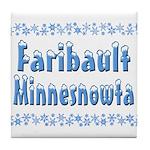 Faribault Minnesnowta Tile Coaster
