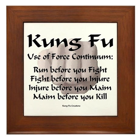 Kung Fu Use of Force Framed Tile