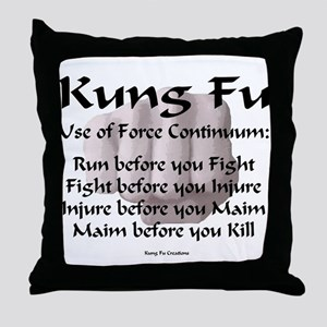 Kung Fu Use of Force Throw Pillow