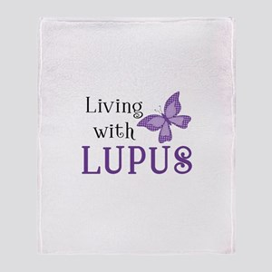 Living with Lupus Throw Blanket
