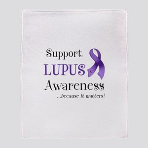 Support Lupus Awareness Throw Blanket