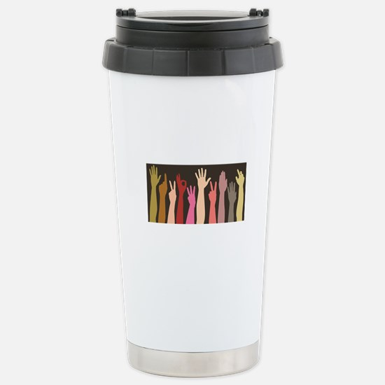 Hands: Stainless Steel Travel Mug