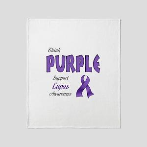 Think PURPLE Throw Blanket