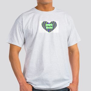 I LOVE YOU BOXED HEART Ash Grey T-Shirt