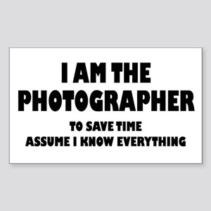 I am the Photographer Sticker (Rectangle)