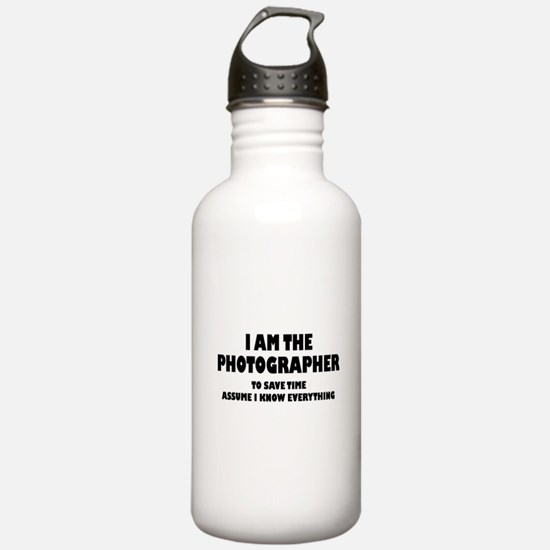 I am the Photographer Water Bottle