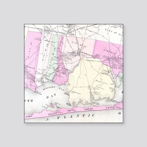 Vintage Brookhaven and Fire Island NY Map Sticker
