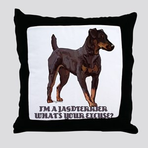 Jagdterrier Excuse Throw Pillow