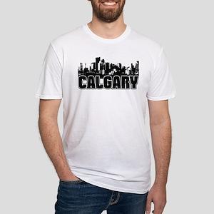 Calgary Skyline Fitted T-Shirt