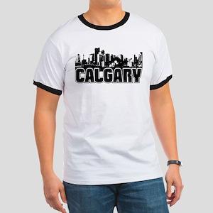 Calgary Skyline Ringer T
