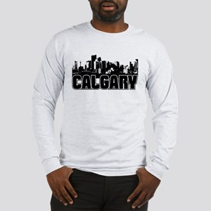 Calgary Skyline Long Sleeve T-Shirt