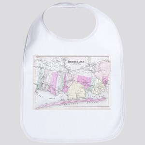 Vintage Brookhaven and Fire Island NY Map Baby Bib