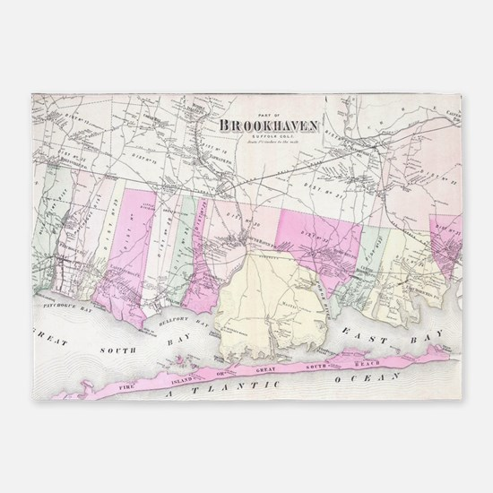 Vintage Brookhaven and Fire Island 5'x7'Area Rug