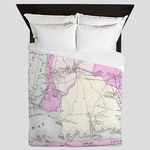 Vintage Brookhaven and Fire Island NY Queen Duvet