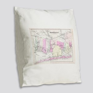 Vintage Brookhaven and Fire Is Burlap Throw Pillow