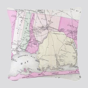 Vintage Brookhaven and Fire Is Woven Throw Pillow
