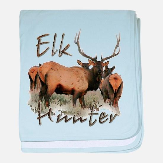 Elk Hunter baby blanket