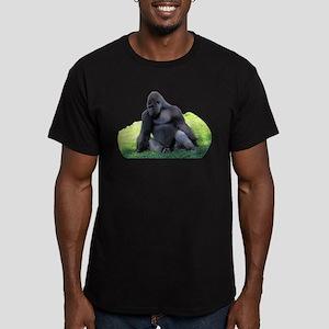 Gorilla in the Grass Men's Fitted T-Shirt (dark)