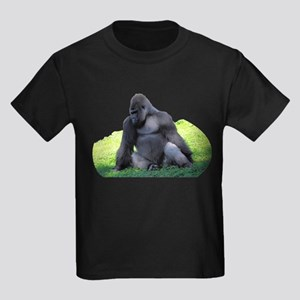 Gorilla in the Grass Kids Dark T-Shirt