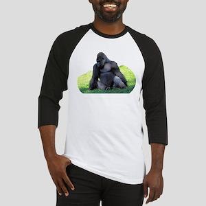 Gorilla in the Grass Baseball Jersey